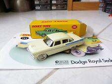 Dodge Royal Sedan 191 Dinky Toys Atlas 1/43 avec boite et fascicule