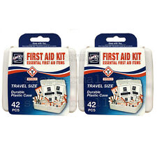 2 Pack 42 PC Essential First Aid Kit Emergency Bag Home Car Office Travel Size