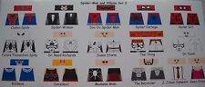 LEGO CUSTOM MINIFIG GLOSSY DECAL SET SPIDER-MAN AND VILLAINS SET 3 15 FIG. LOT