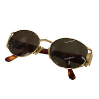 FENDI Logos Sunglasses Brown Gold-Tone Eye Wear Vintage Italy Authentic #NN248 O