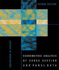 Econometric Analysis of Cross Section and Panel Data by Jeffrey M. Wooldridge...