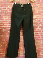 Karen Millen Pants Black High Rise Straigh Leg womens size 4