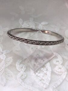 1970s Silver-plated Chain Decorated Bangle. C328
