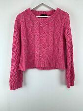 Womens Knit Select Sweater Pink Crew Neck Sz 18 Uk *2