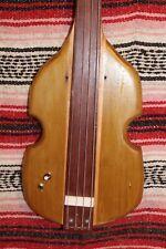"""Left handed Bass Fretless 4 String Poplar Fiddle Wishbass Short Scale 28"""" Piezo"""