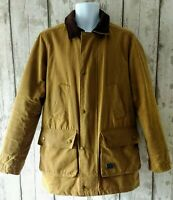 Brixtol Quilted Waxed Tan Wax Jacket Size M Made In England