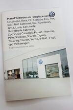 VW Scheckheft Servicebook Serviceplan Jetta, Golf, Passat, EOS Français