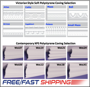 Victorian & Contemporary Style Soft & XPS Polystyrene Coving Cornice From 8.99