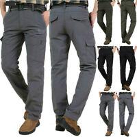 Men's Casual Hiking Trekking Outdoor Pants Loose Sport Warm Fleece Long Trousers