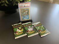 1999 Pokemon Jungle Booster Packs Full Art Set * Free 1st Edition Vaporeon PSA