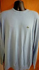 Lacoste Men's  Sweater AH190051 AMR CLOUD/NAVY BLUE-WHITE SIZE 8/3XL