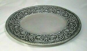 "Wilton Armetale Pewter William & Mary Oval Platter 12.75"" x 14.7""  #366244 EUC"