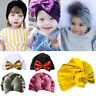 Baby Toddler Girls Bunny Rabbit Bow Knot Turban Headband Hair Band Soft Headwrap