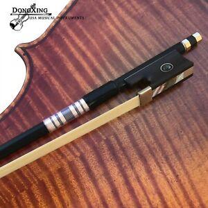 1/16 Violin Bow Carbon Fiber Violin Bow Natural Horsehair Ebony Frog Round Stick