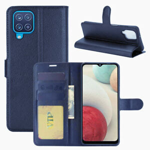 Leather Magnetic Card Slot Wallet Flip Cover Stand Case for Samsung Galaxy A12