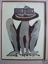 1990 computer art drawing print Artist Robert Singletary  Modern NAVY FROG MAN