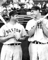 1939 Boston Red Sox JIMMIE FOXX & TED WILLIAMS Glossy 8x10 Photo Baseball Print