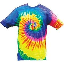 NEON RAINBOW TYE DYED TEE SHIRT men womens SIZE LG hippie tie dye NEW SWIRL #210