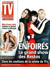 TV MAGAZINE N°21335 8 MARS 2013  LES ENFOIRES: SHY'M, LEROY&OBISPO/ MISS FRANCE