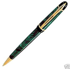 Waterman Phileas Ballpoint Pen  Marble Green & Gold New
