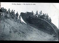 CHAR ANGLAIS & MILITAIRES en MANOEUVRE période 1920-1930