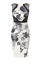Karen Millen floral print pencil dress size 8 BNWT