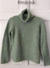 Eileen Fisher Beautiful Soft Mint Green Tweed Wool Turtleneck Sz P/XS VG-Ex Cond