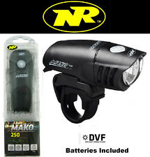 Niterider Mako 250 Lumen Bright Safety Head Light Headlight DVF AA Battery 5064