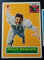 1956 & 1957 Topps Chuck Bednarik HIGH GRADE