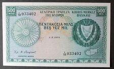 Cyprus P42b 500 Mils Choice Uncirculated