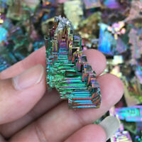 Rare Rainbow Titanium Bismuth Specimen Mineral Gem Crystal Healing Stone Lot