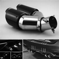 CARBON FIBER CAR DAUL EXHAUST PIPE TAIL MUFFLER END TIP 63mm INLET 89mm OUTLET
