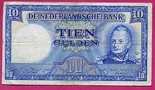 Pays Bas ( P#83 ) billet de banque 10 gulden ~ b/tb ~ 1949 ( lot 348 )