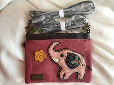 NEW CHALA PINK ELEPHANT MINI CROSSBODY CELL PHONE PURSE ADJUSTABLE STRAP