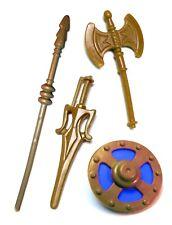 PRE-ORDER Vintage MOTU Custom KING RANDOR WEAPONS SET SWORD SHIELD AXE STAFF
