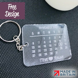 PERSONALISED LASER CUT & ENGRAVED KEYRING KEYCHAIN * Great Gift *