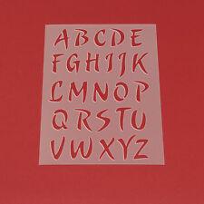 Schablone Wandschablone Buchstaben Satz A - Z Groß Alphabet A bis Z - ME24