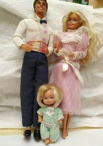 couple famille doucoeur et un bébé (années 80)