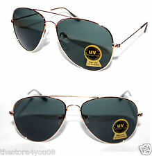 Classic Aviator Sunglasses Medium Sz Pilot Gold Frame Gradient Glass Lenses Cop