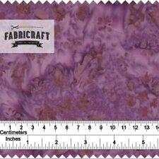 Batik in purple - 1 metre 100% cotton fabric