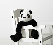 Ikea Kramig Panda Bear Stuffed Animal Plush Soft Toy Kids Baby White Black NEW