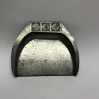 """Vintage Rustic Metal Dust Pan Crumb Catcher 8"""" Wide By 7"""" Tall"""