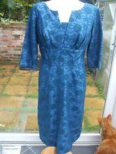 Gorgeous Vintage Turquoise Colour Lace Dress- Size 12/14??- NORMAN YOUNG LONDON