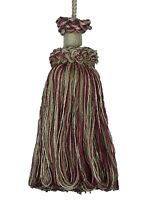 "Conso Duke 11824 Color N22 BLACK CREAM SAND Mix Decorative 4/"" Key Tassel 5/"" Loop"