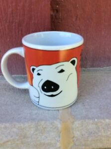 VINTAGE NOS COFFEE MUG #025- 1998 Coca Cola Polar Bear