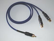0,50m Sommercable ONYX blau / Y-Adapterkabel 1x Cinchstecker - 2x Cinchbuchse
