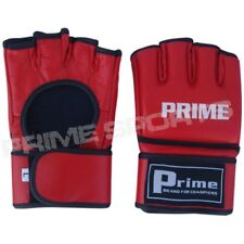 Prime Mma Ufc Grappling Gloves Cage Fight Kick Boxing Muay Thai Punch Bag Red
