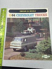 Original 1964 Chevrolet Truck Dealer Sales Brochure Corvair 95 Van Pickup