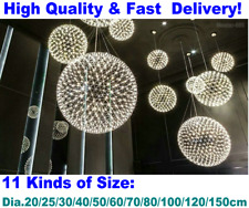 Modern LED Firework Sparking Round Ball Shape Spheroidal Hanging Pendant Lights
