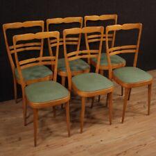 Sedie poltrone di design mobili in legno moderne vintage finta pelle salotto